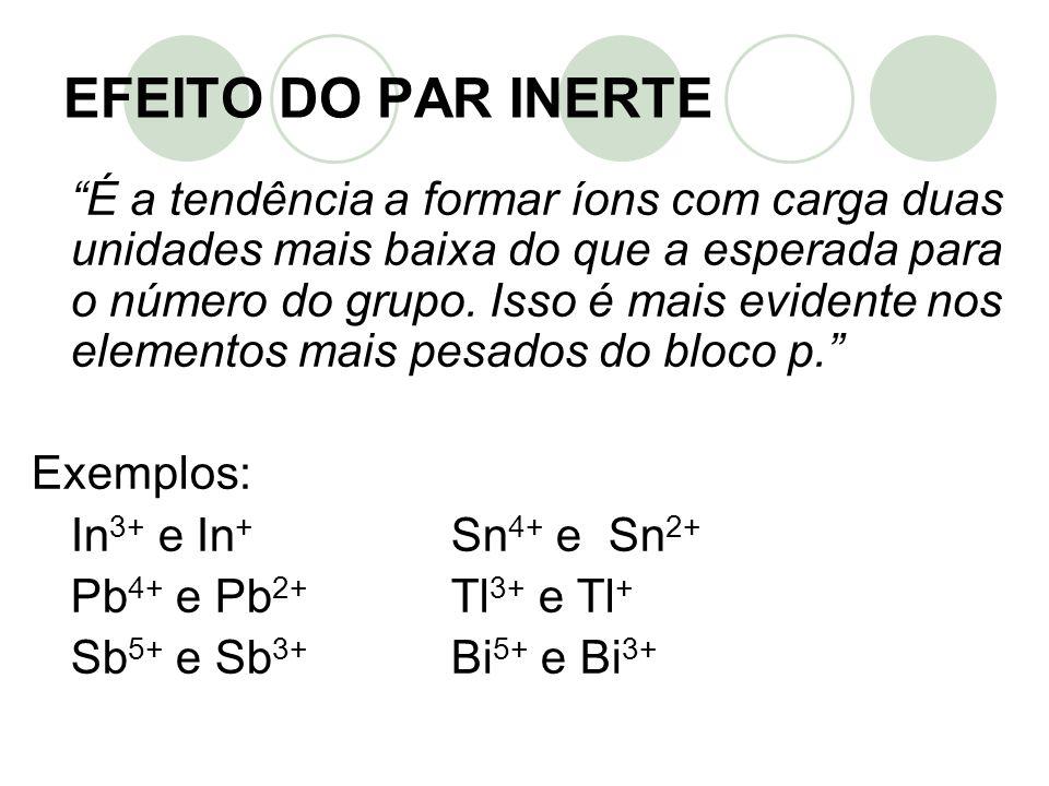 EFEITO DO PAR INERTE