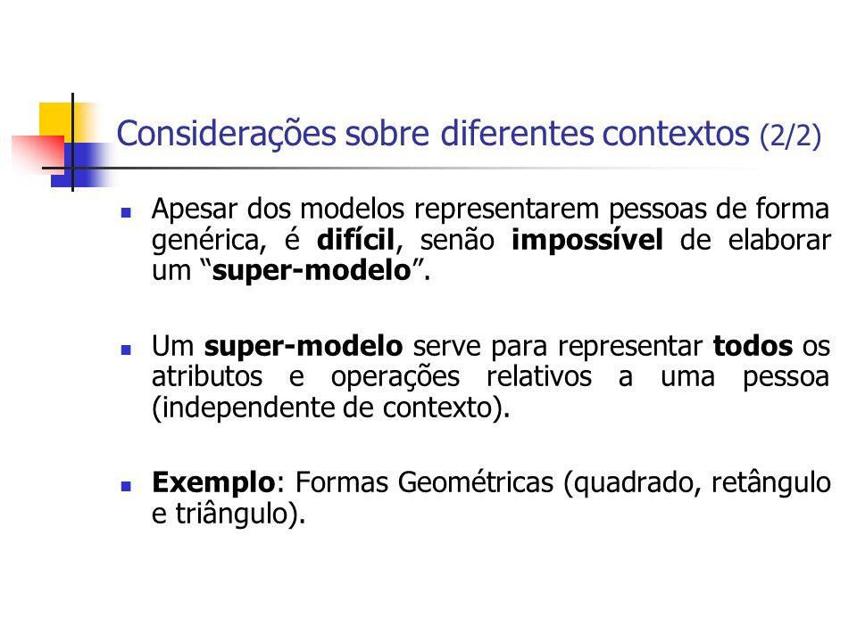 Considerações sobre diferentes contextos (2/2)