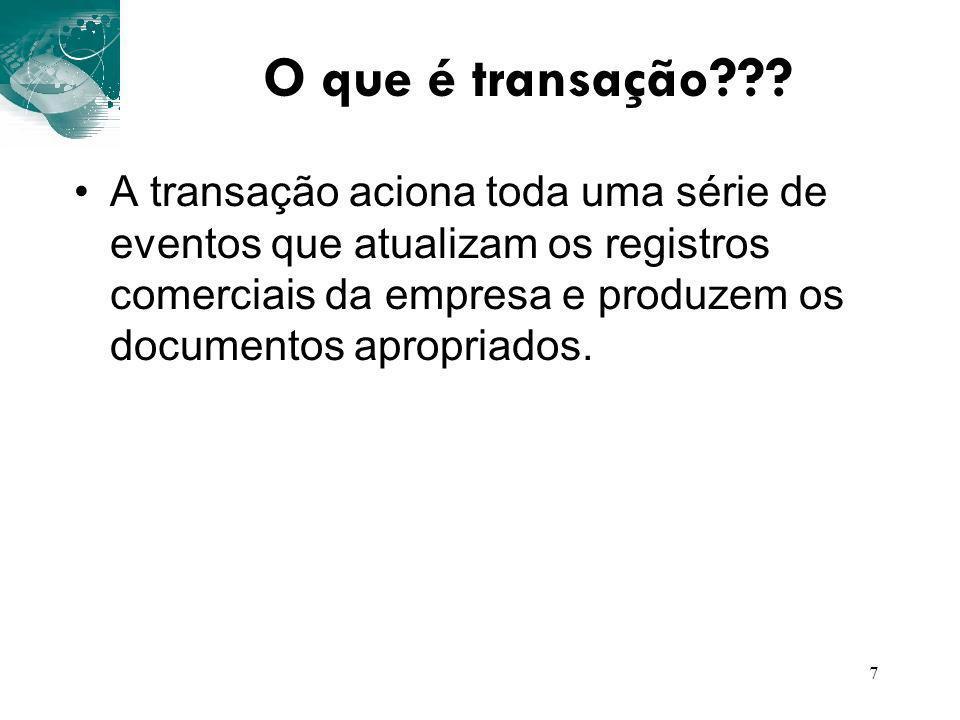 O que é transação