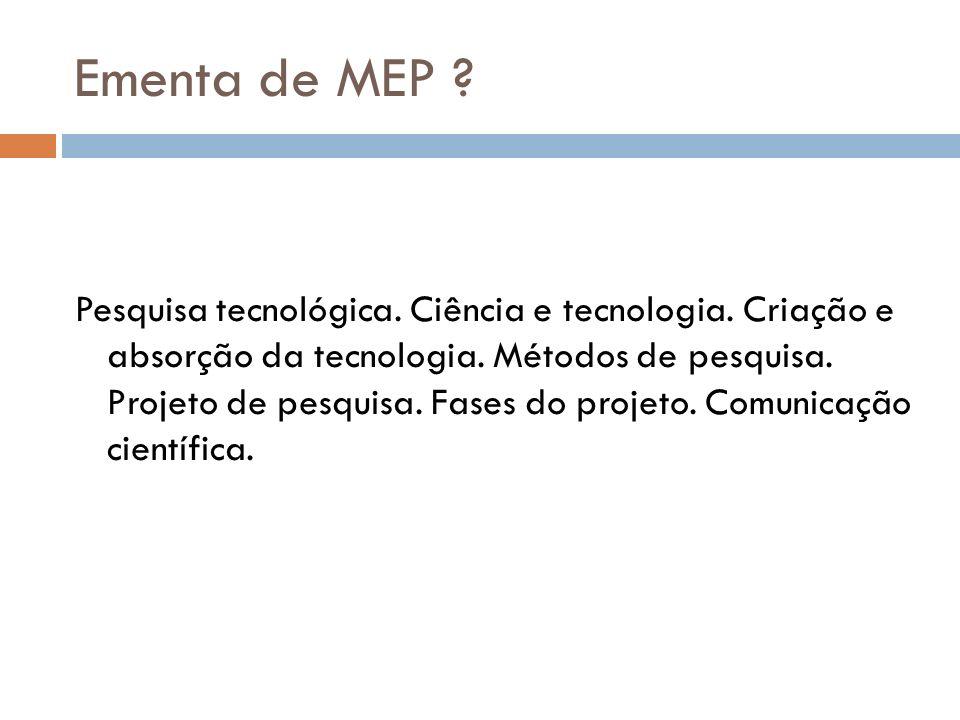 Ementa de MEP