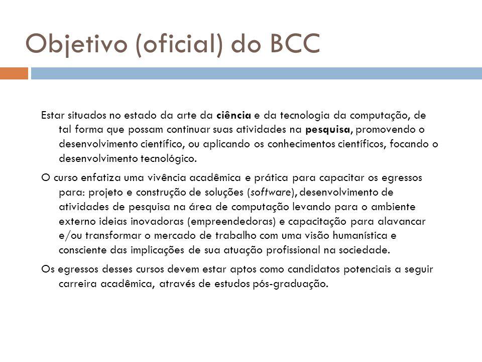 Objetivo (oficial) do BCC
