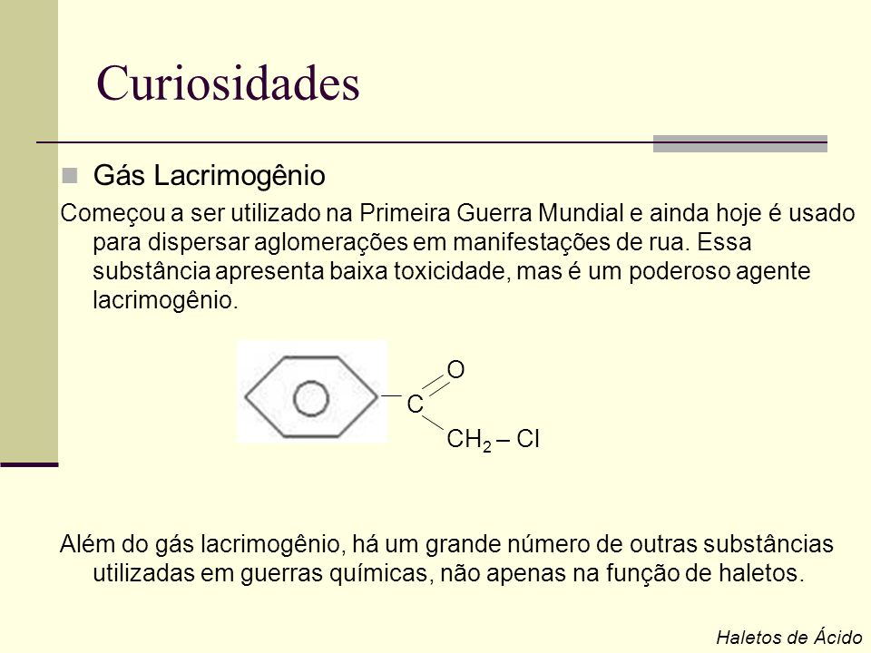 Curiosidades Gás Lacrimogênio