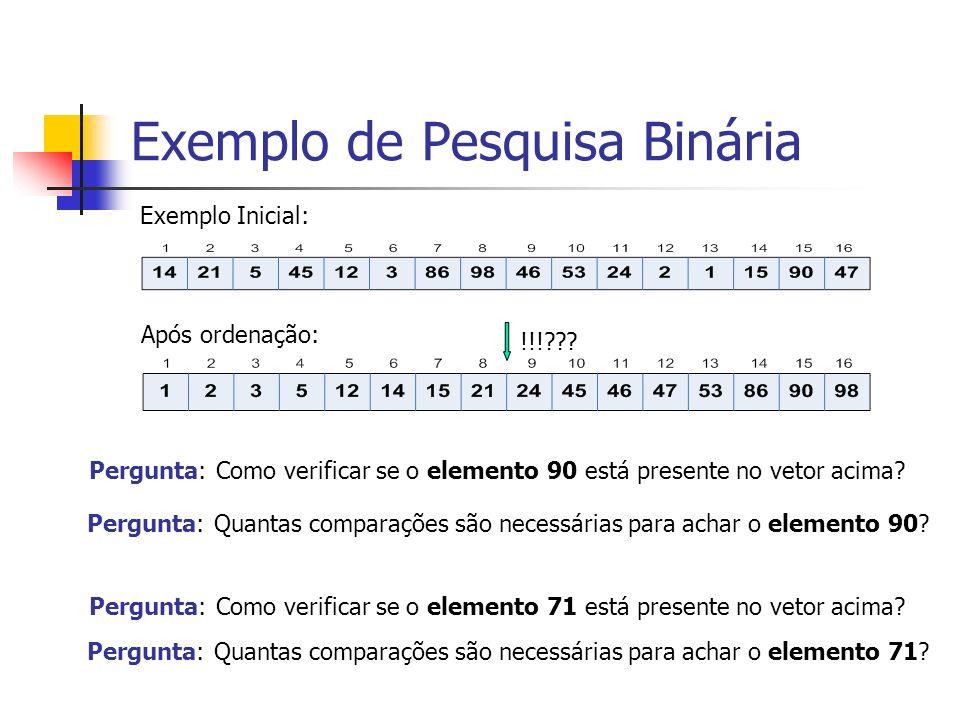 Exemplo de Pesquisa Binária