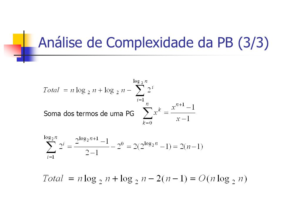Análise de Complexidade da PB (3/3)