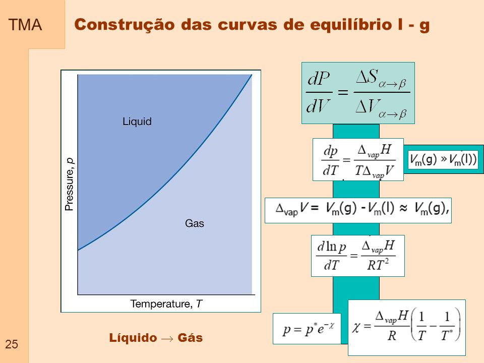 Construção das curvas de equilíbrio l - g