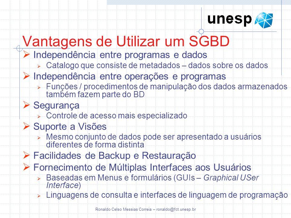 Vantagens de Utilizar um SGBD