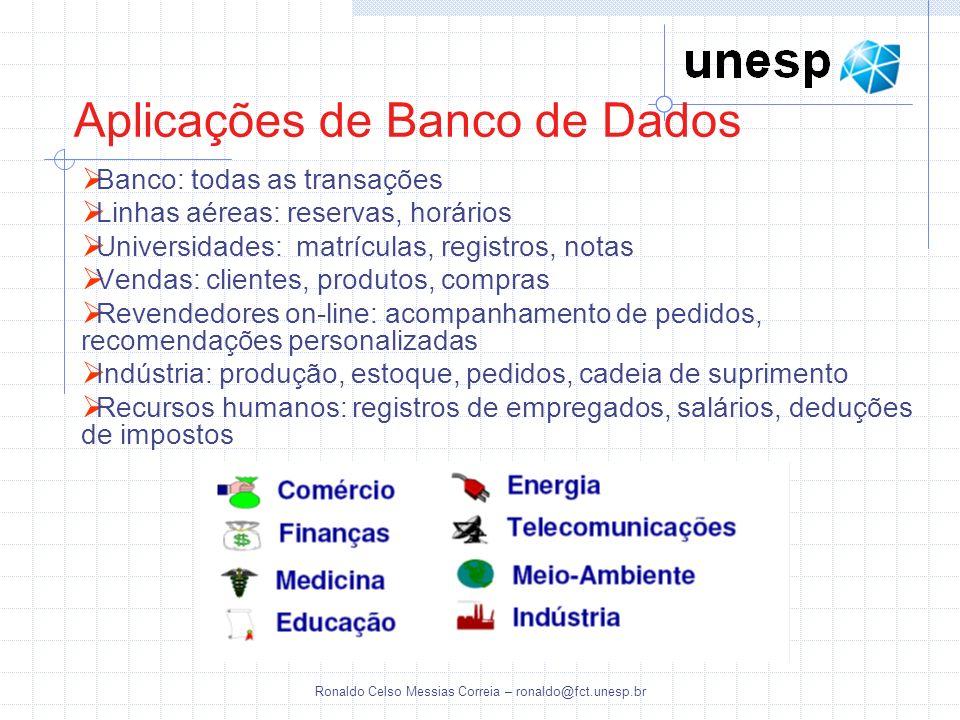 Aplicações de Banco de Dados