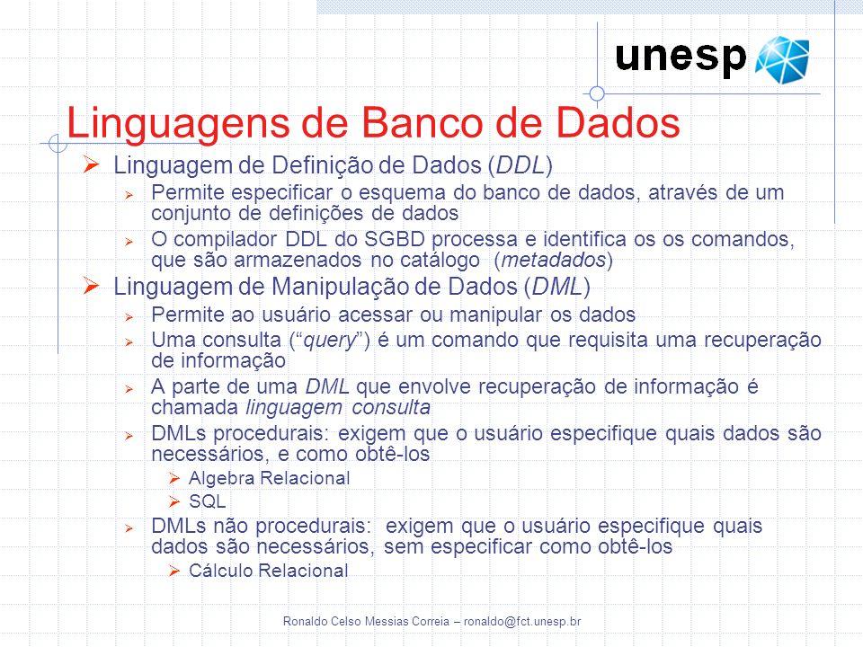 Linguagens de Banco de Dados