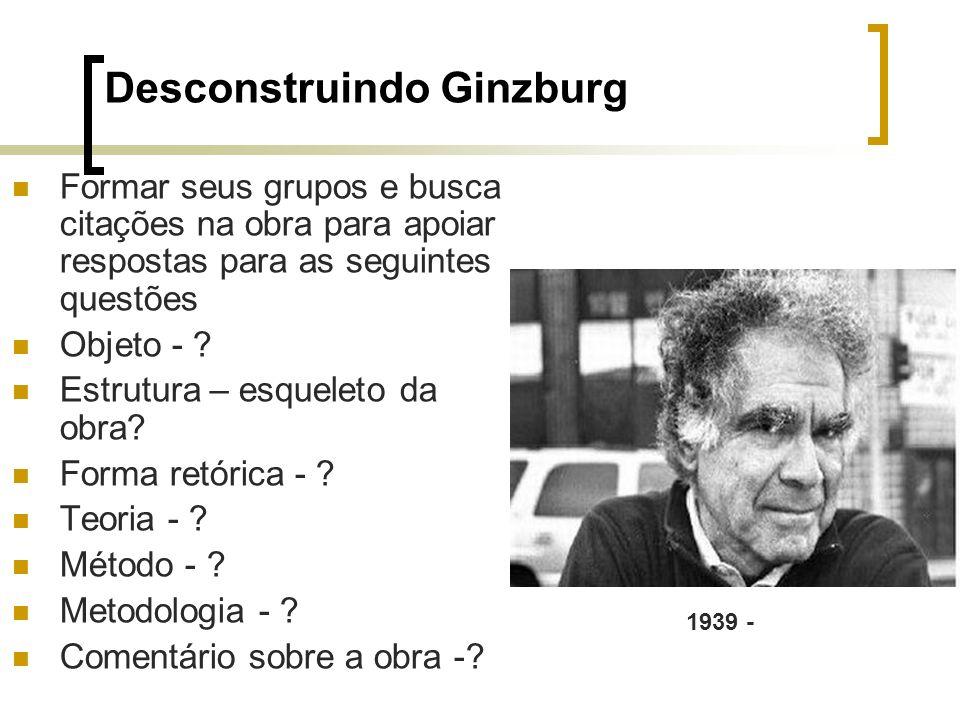 Desconstruindo Ginzburg