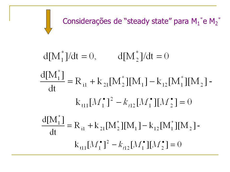 Considerações de steady state para M1*e M2*