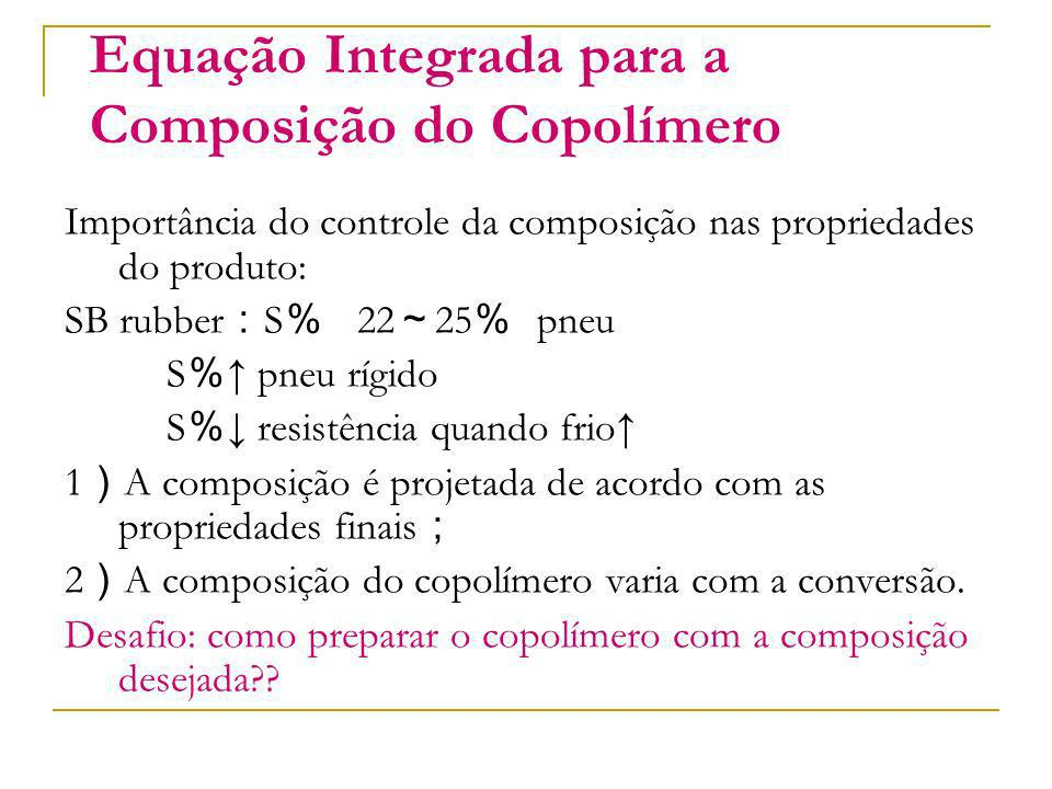 Equação Integrada para a Composição do Copolímero