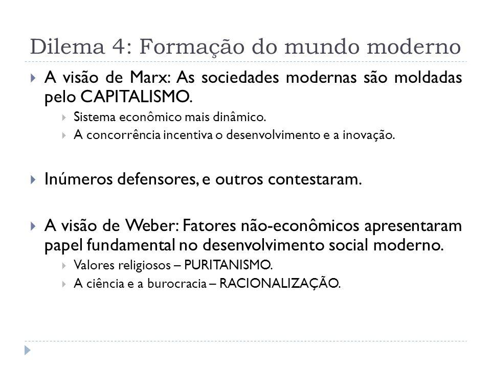 Dilema 4: Formação do mundo moderno