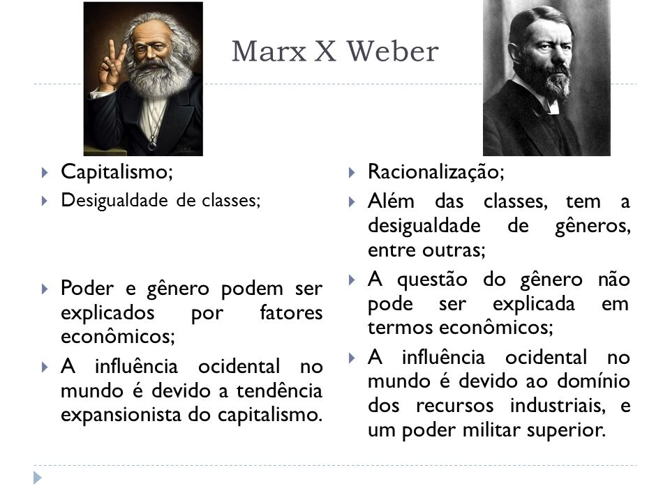 Marx X Weber Capitalismo;