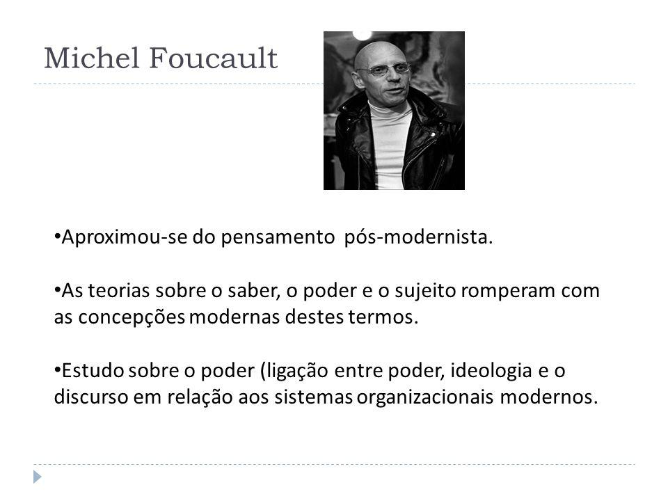 Michel Foucault Aproximou-se do pensamento pós-modernista.