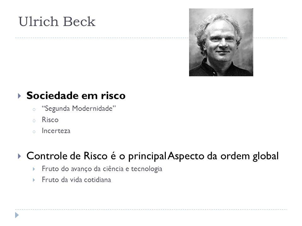 Ulrich Beck Sociedade em risco