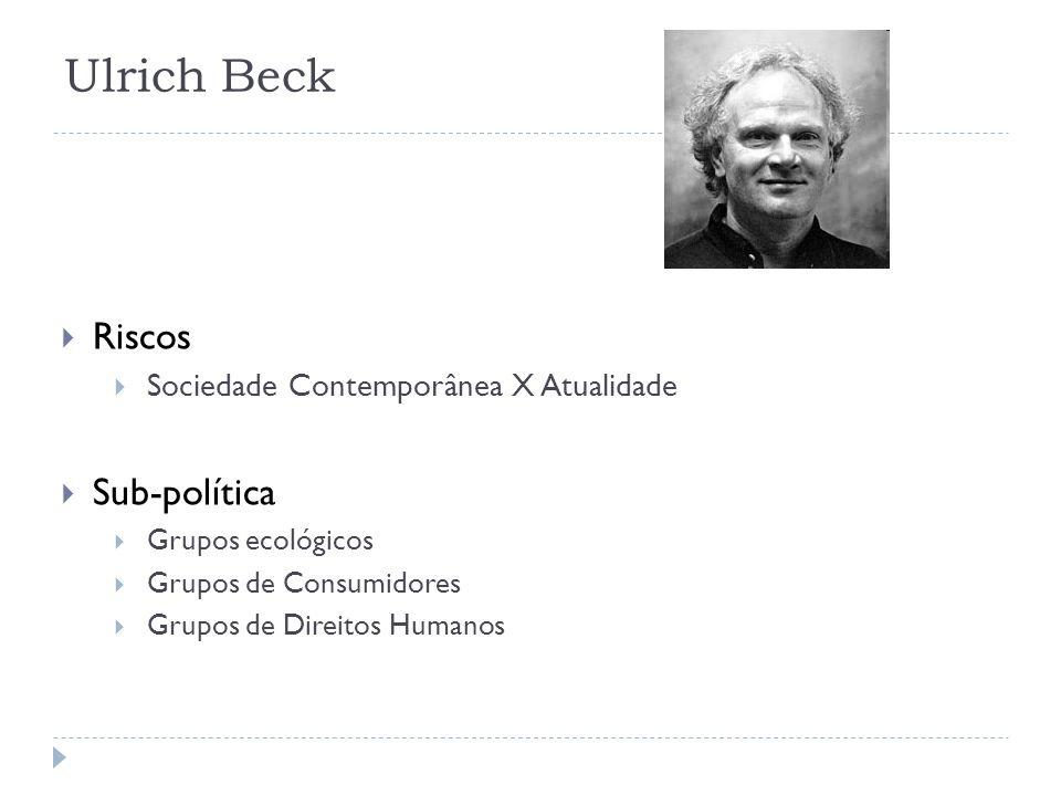 Ulrich Beck Riscos Sub-política Sociedade Contemporânea X Atualidade