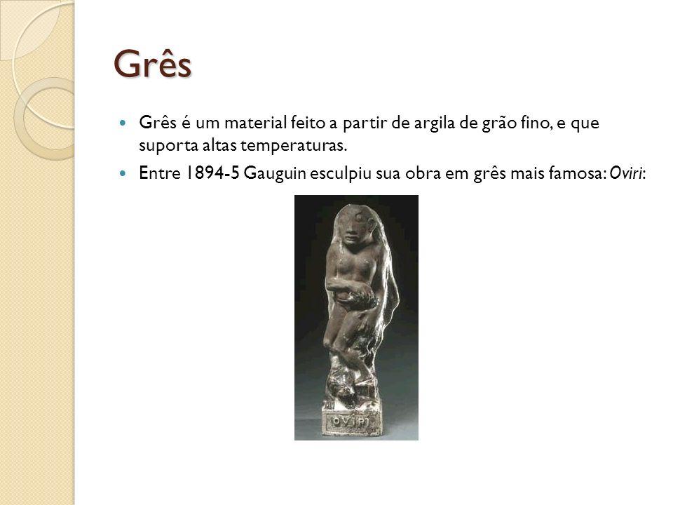 Grês Grês é um material feito a partir de argila de grão fino, e que suporta altas temperaturas.