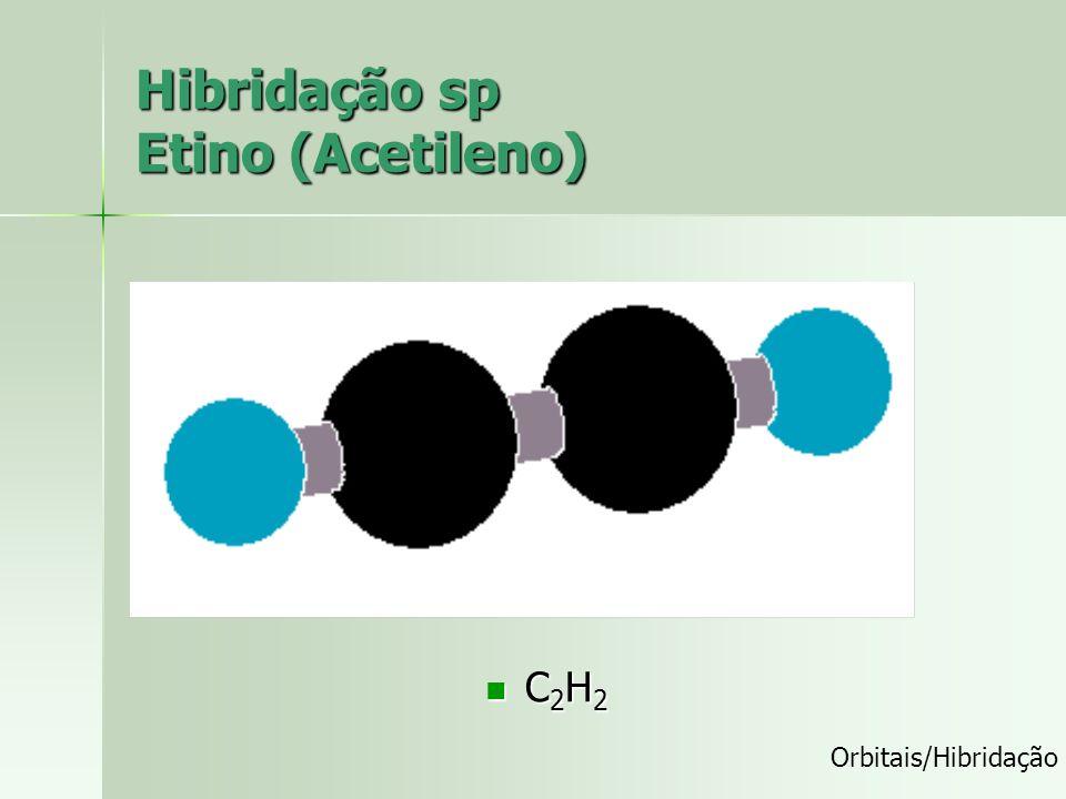 Hibridação sp Etino (Acetileno)