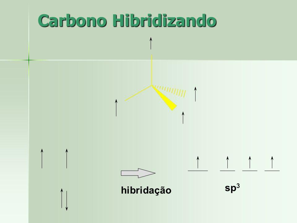 Carbono Hibridizando sp3 hibridação
