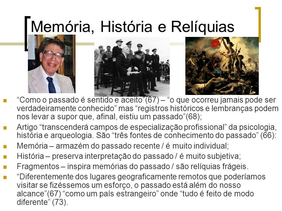 Memória, História e Relíquias