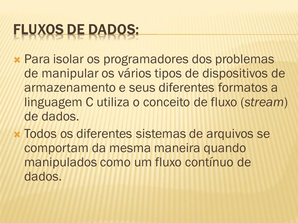 Fluxos de Dados: