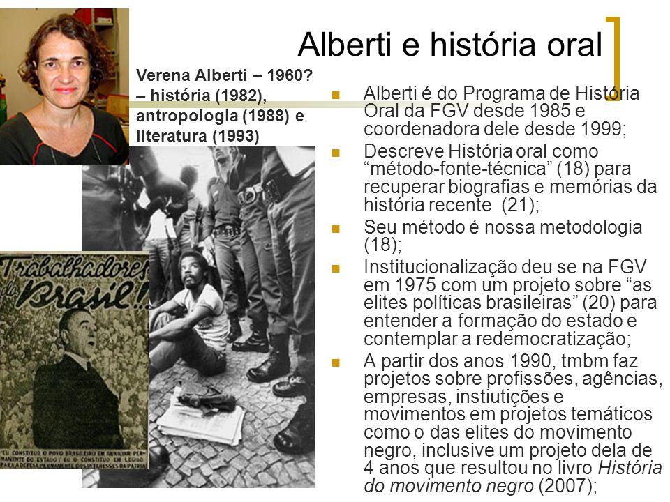 Alberti e história oral