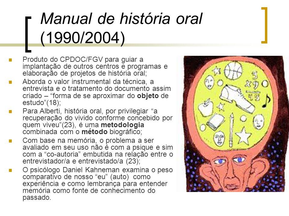 Manual de história oral (1990/2004)
