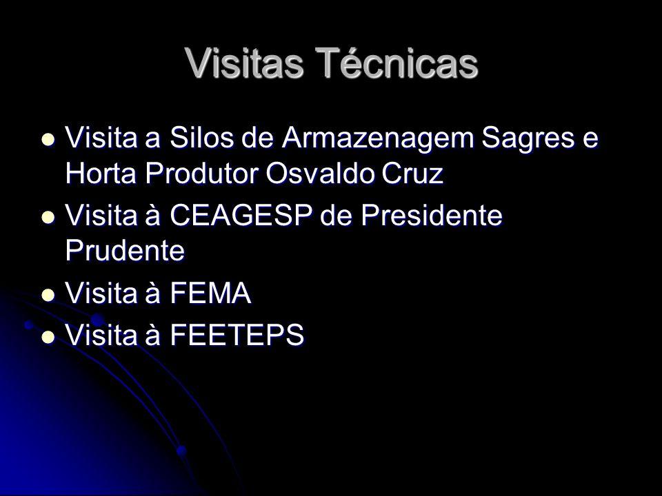 Visitas Técnicas Visita a Silos de Armazenagem Sagres e Horta Produtor Osvaldo Cruz. Visita à CEAGESP de Presidente Prudente.
