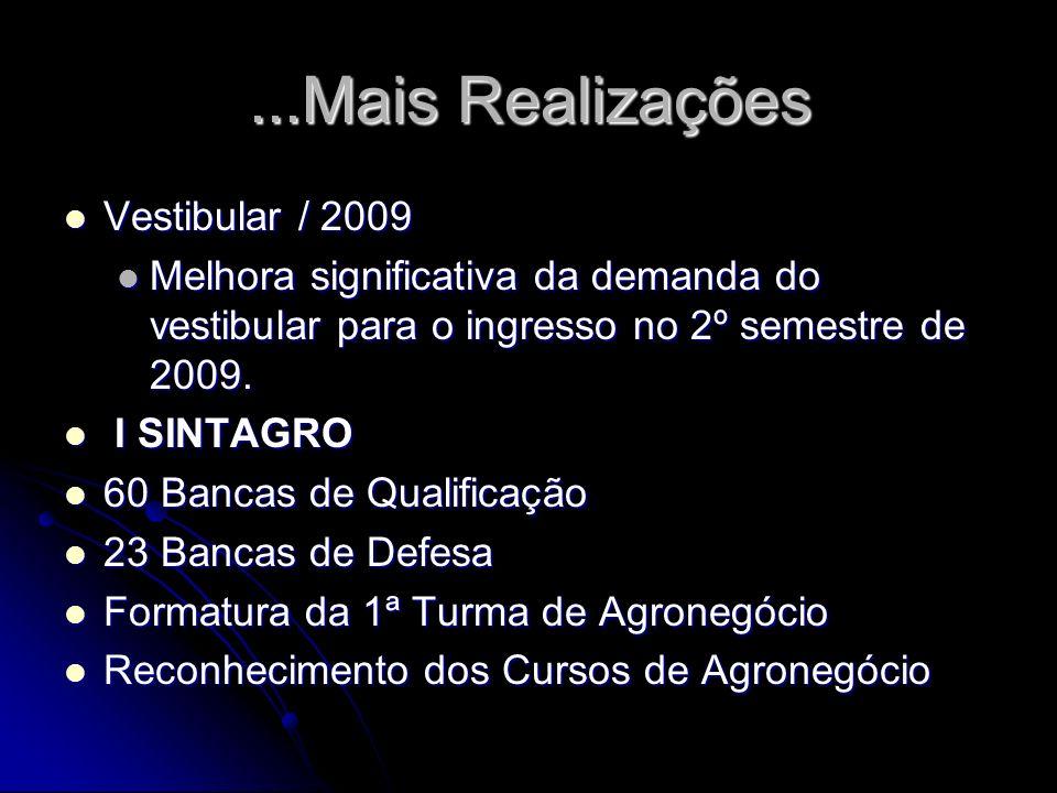 ...Mais Realizações Vestibular / 2009