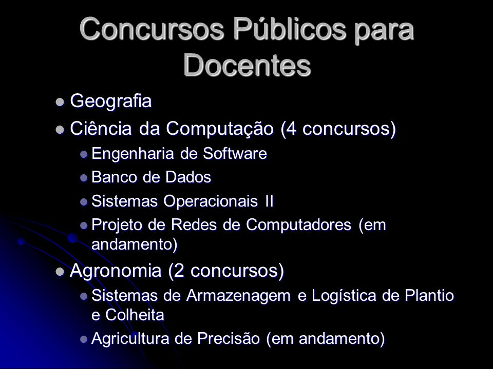 Concursos Públicos para Docentes