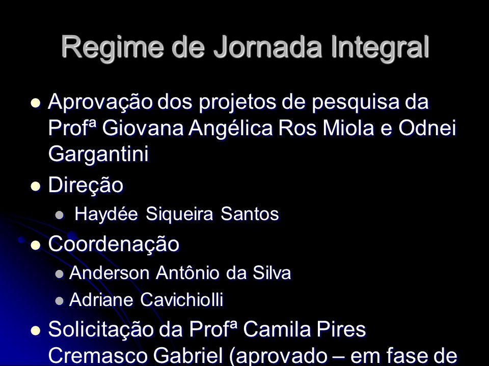 Regime de Jornada Integral
