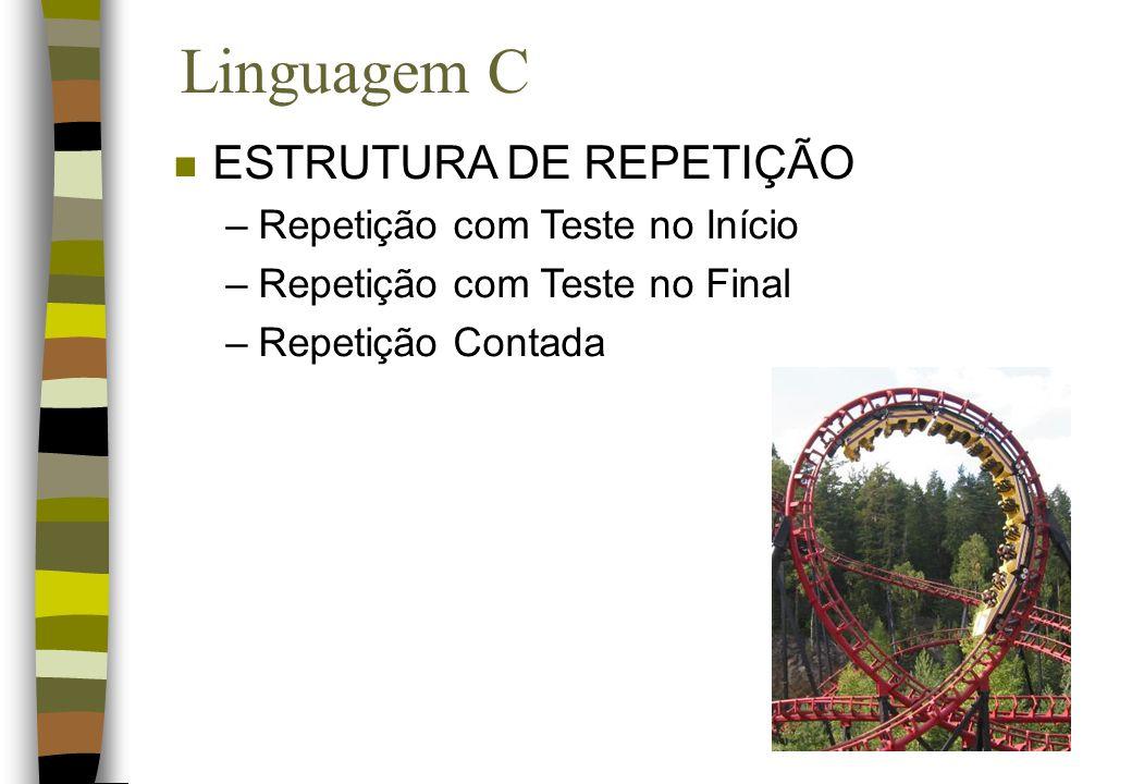 Linguagem C ESTRUTURA DE REPETIÇÃO Repetição com Teste no Início
