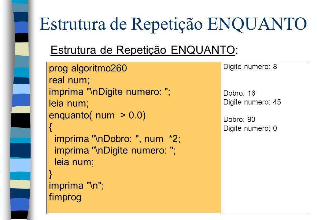 Estrutura de Repetição ENQUANTO