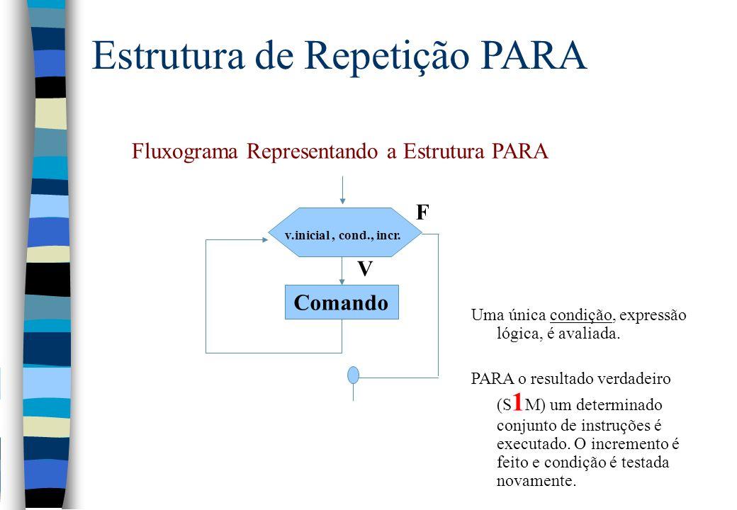 Fluxograma Representando a Estrutura PARA
