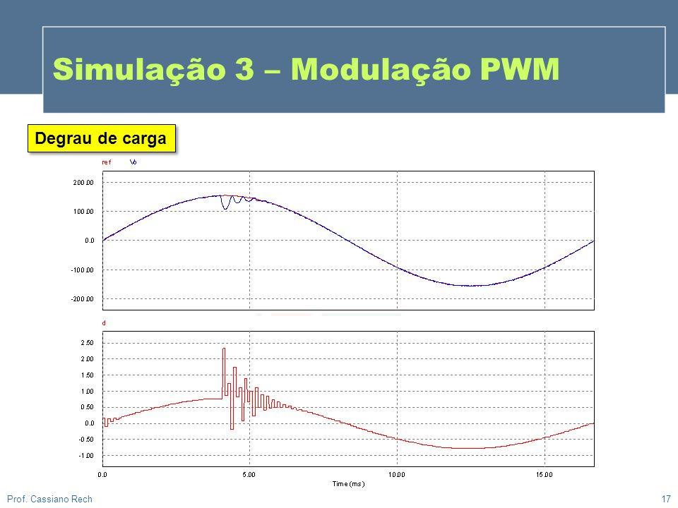 Simulação 3 – Modulação PWM