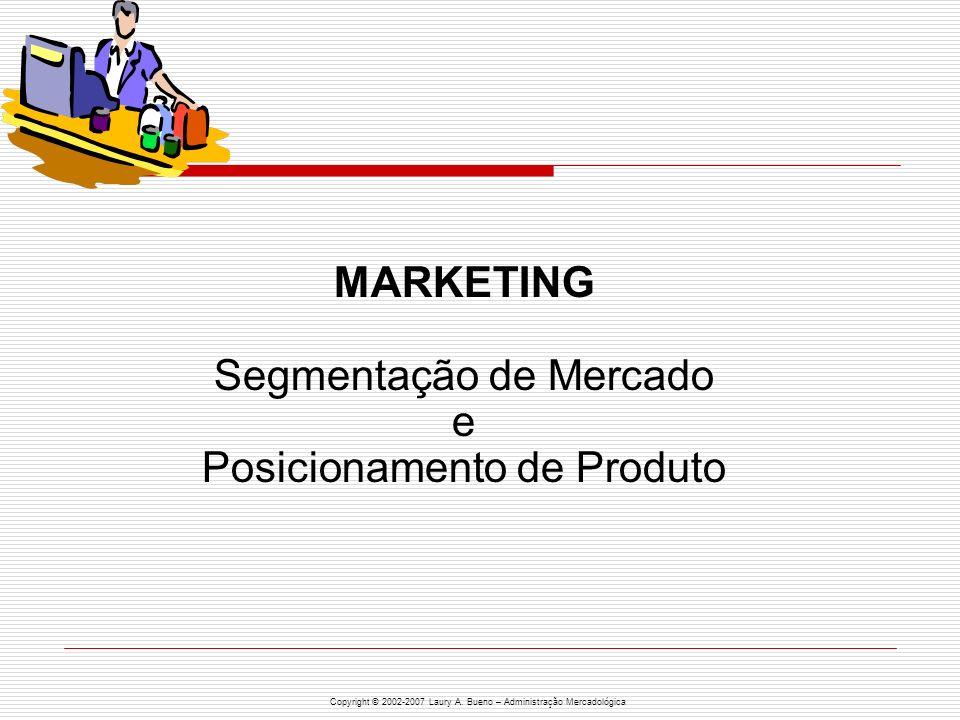 MARKETING Segmentação de Mercado e Posicionamento de Produto
