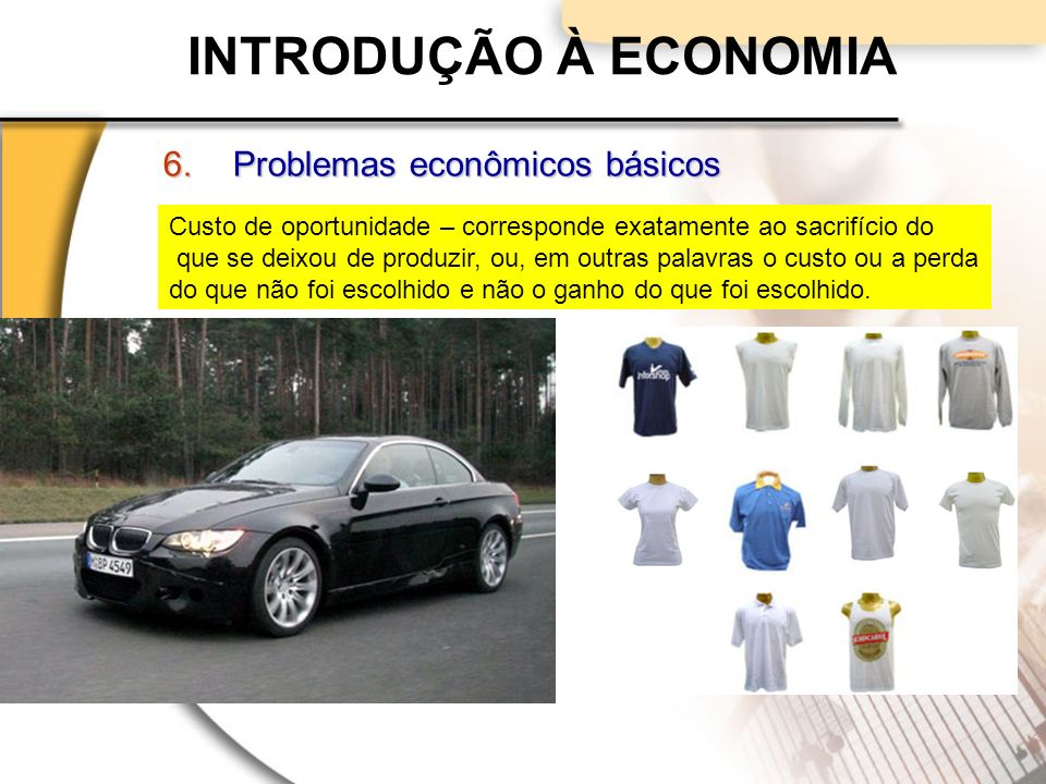INTRODUÇÃO À ECONOMIA Problemas econômicos básicos