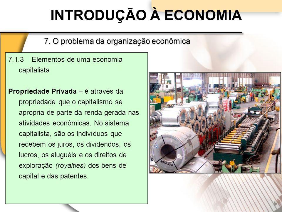INTRODUÇÃO À ECONOMIA 7. O problema da organização econômica