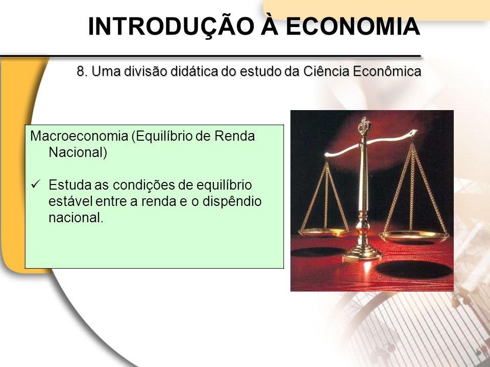 INTRODUÇÃO À ECONOMIA Macroeconomia (Equilíbrio de Renda Nacional)