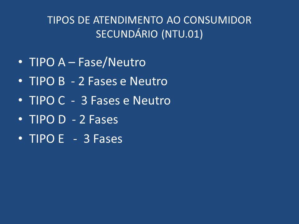 TIPOS DE ATENDIMENTO AO CONSUMIDOR SECUNDÁRIO (NTU.01)