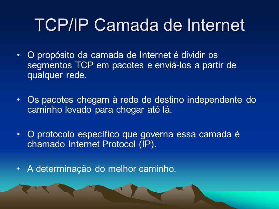 TCP/IP Camada de Internet