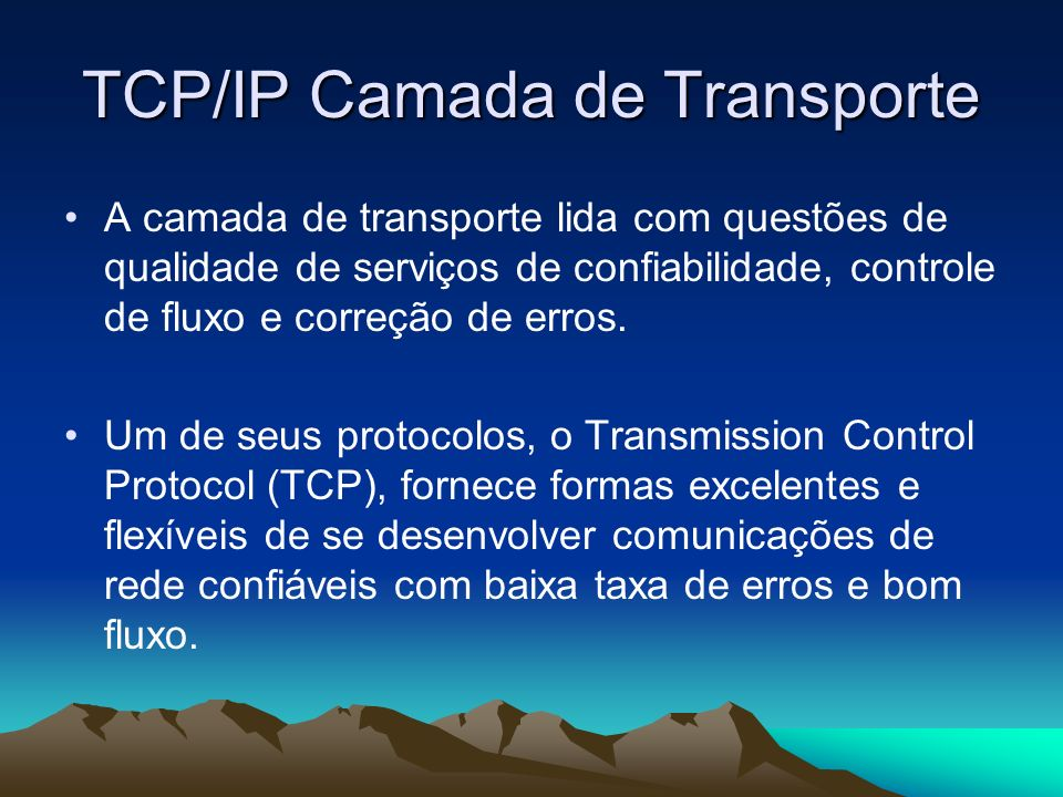 TCP/IP Camada de Transporte