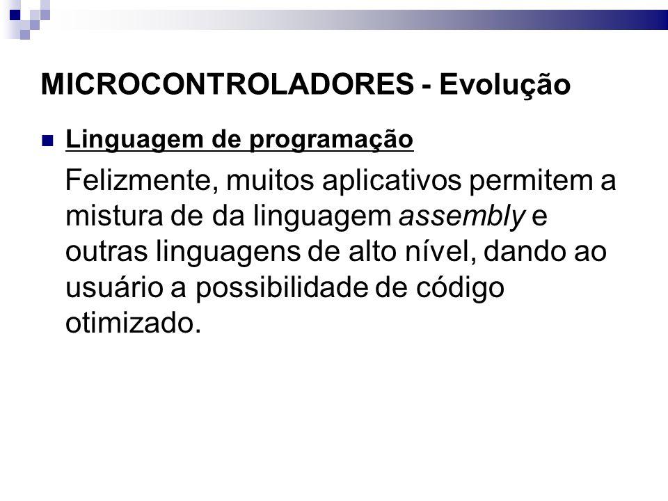 MICROCONTROLADORES - Evolução