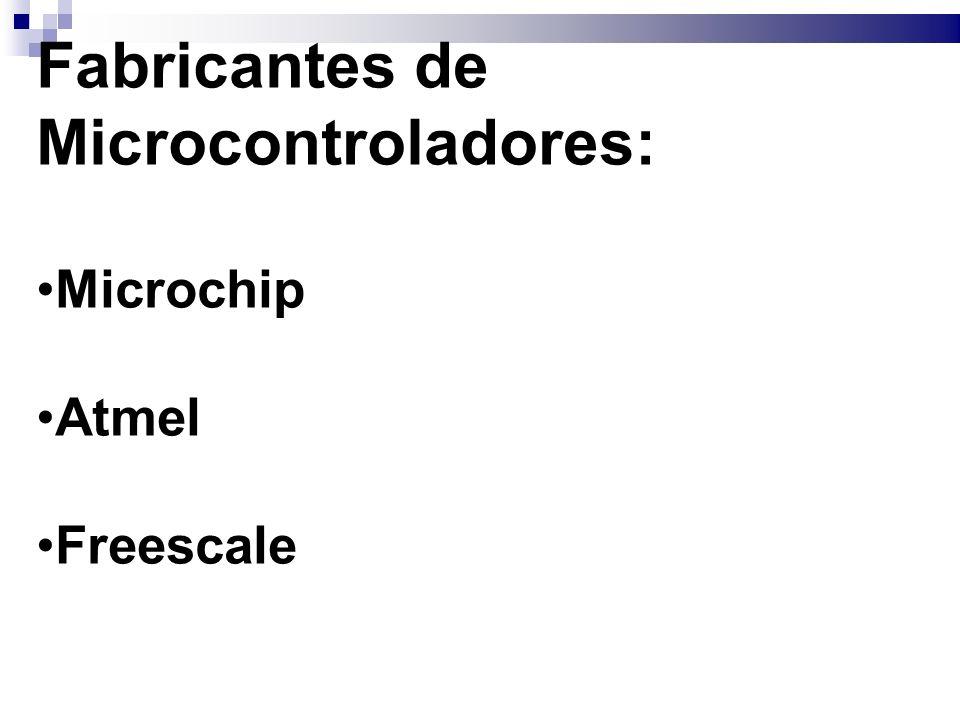 Fabricantes de Microcontroladores:
