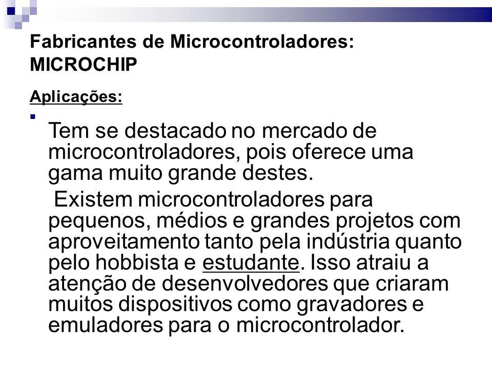Fabricantes de Microcontroladores: MICROCHIP