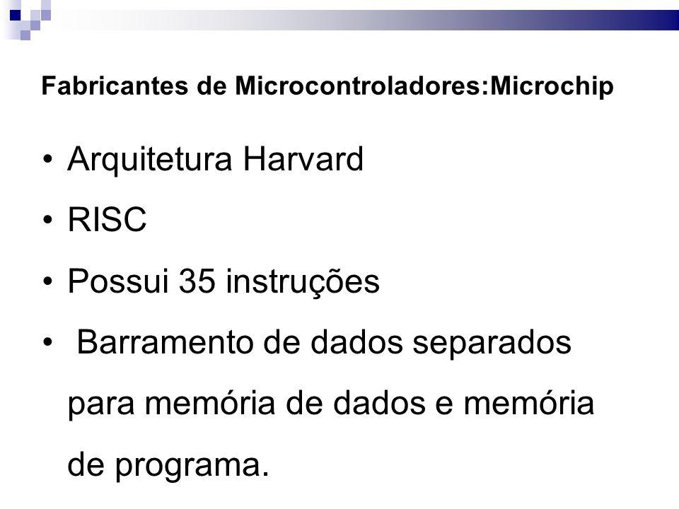 Arquitetura Harvard RISC Possui 35 instruções
