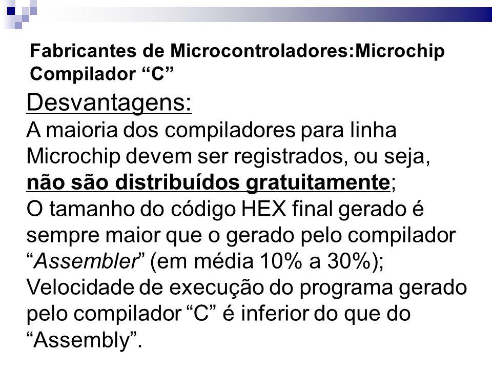 Fabricantes de Microcontroladores:Microchip Compilador C