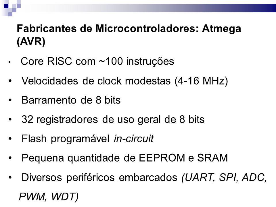 Fabricantes de Microcontroladores: Atmega (AVR)