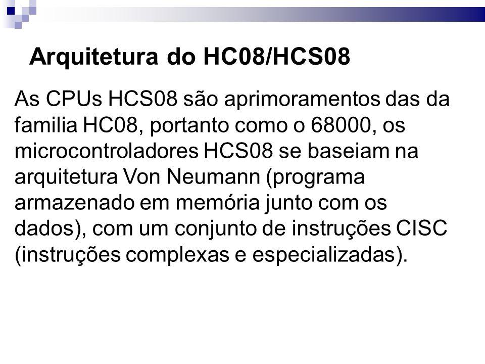 Arquitetura do HC08/HCS08
