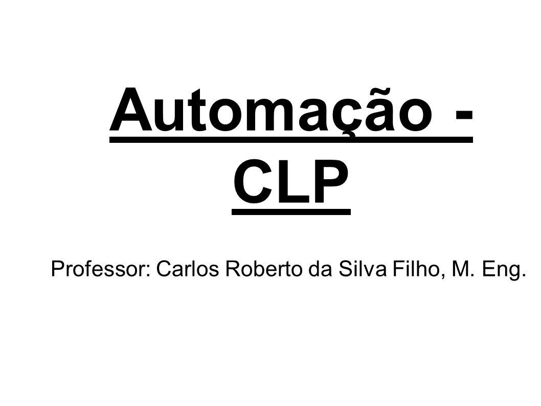 Professor: Carlos Roberto da Silva Filho, M. Eng.
